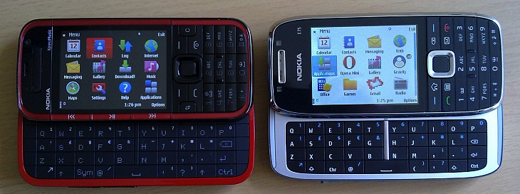 Nokia 5730 XpressMusic and Nokia E75