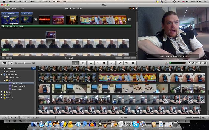 iMovie 09 in action