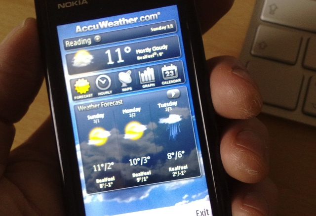 5800 running AccuWeather