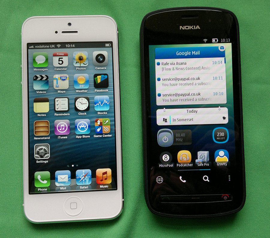 iPhone 5 and Nokia 808