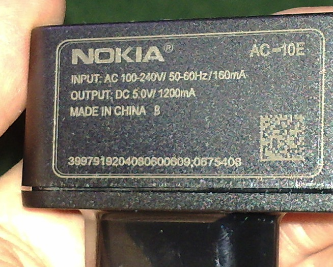 N86-supplied charger