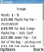 Froogle Screenshot