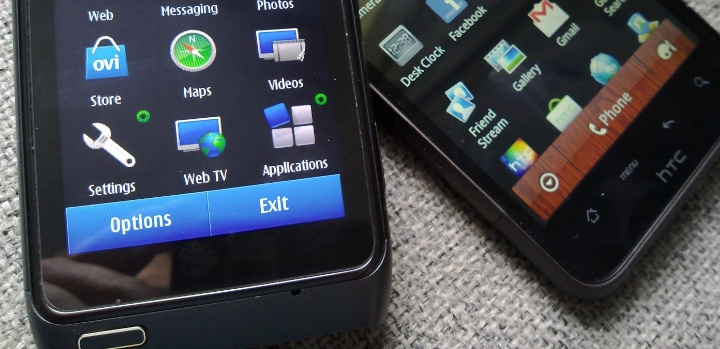 Nokia N8 and HTC Desire HD