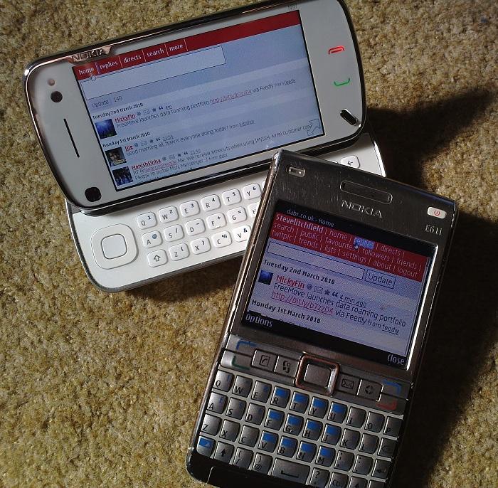 N97 vs E61i !