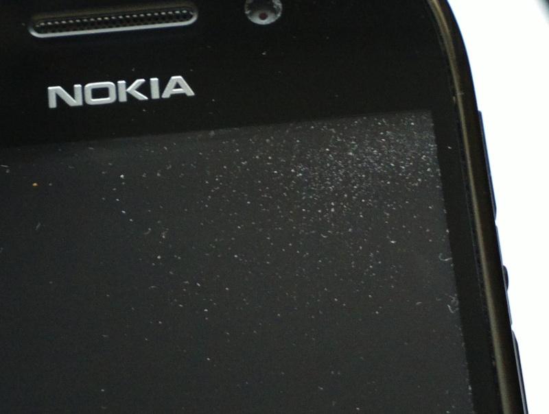 Dust under screen