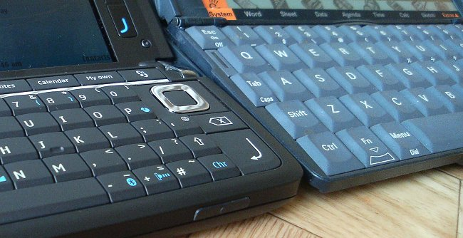 Nokia E90 and Psion Series 5