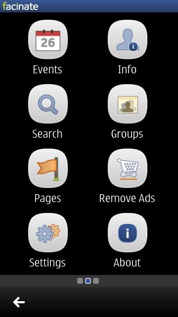 Screenshot from Facebook client group test