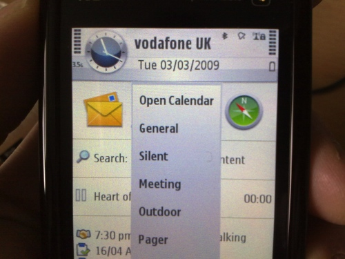Setting up the 5800 XpressMusic home screen
