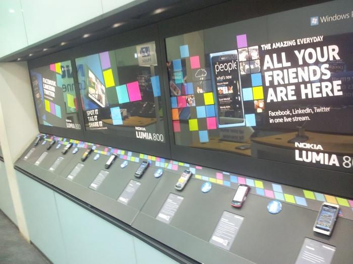 Modern mall display