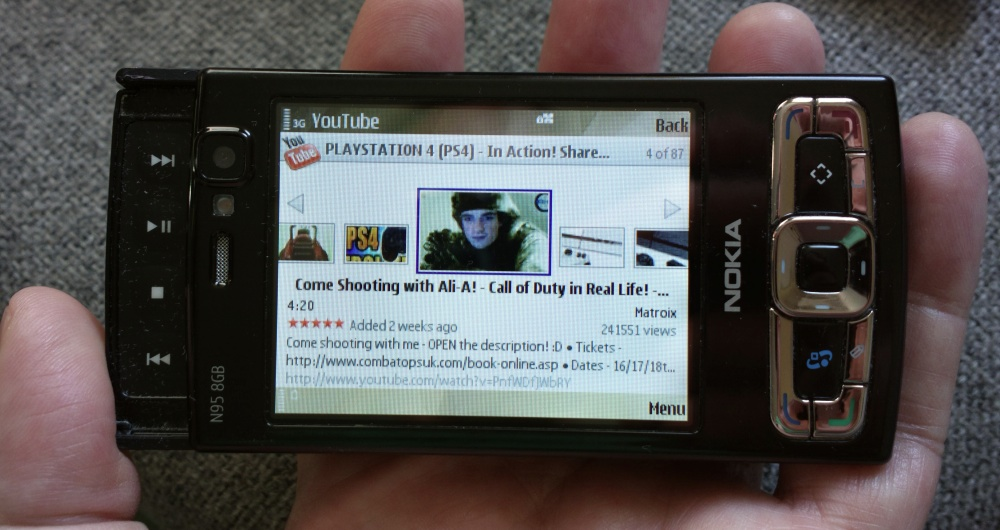 youtube nokia n95 8gb
