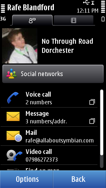 Screenshot from Nokia Social walk through