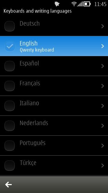 Screenshot, enabling numeric input on Belle FP2