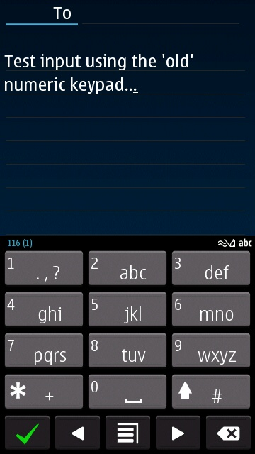 Old keypad screenshot