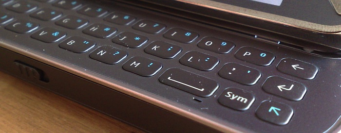 Nokia N97 keyboard