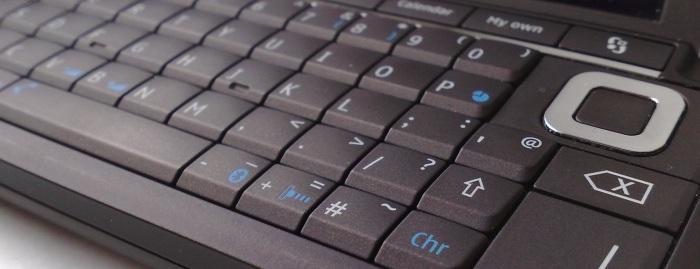 Nokia E90 keyboard