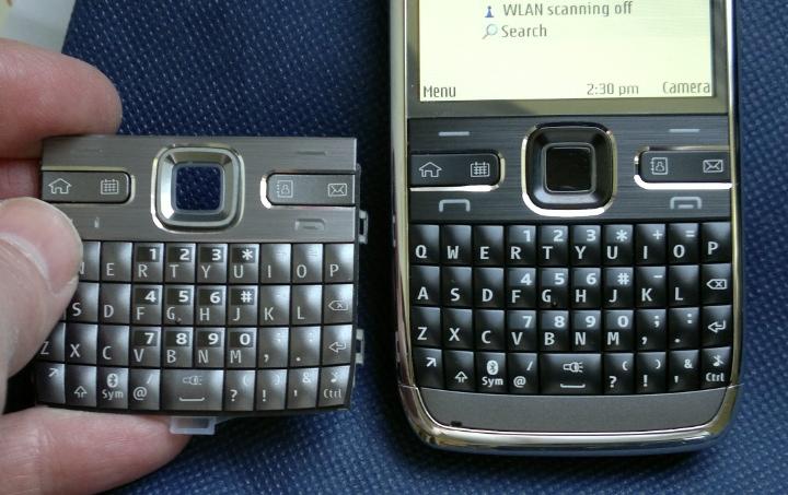 Old keypad vs new black one!
