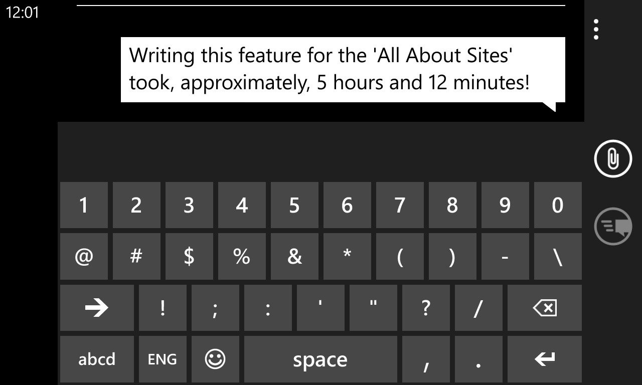 Text input on Windows Phone virtual keyboard