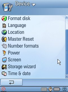 UIQ 3 screenshot