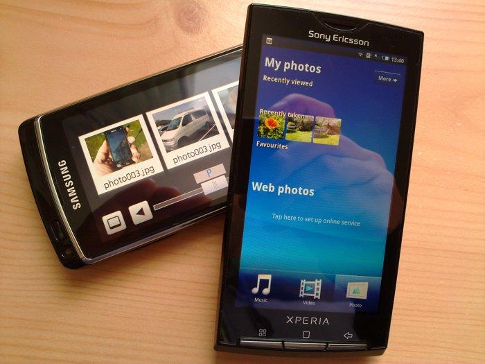 Sony Ericsson X10 and Samsung i8910 HD