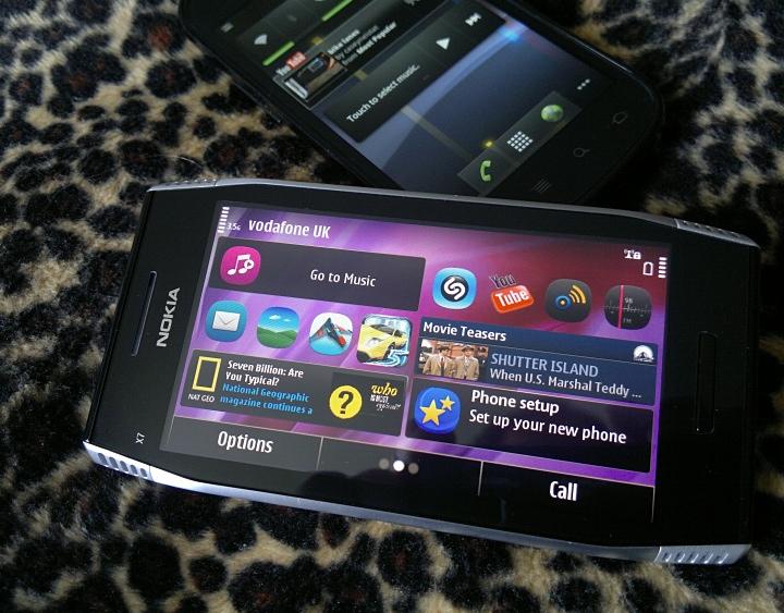 Nexus S and Nokia X7