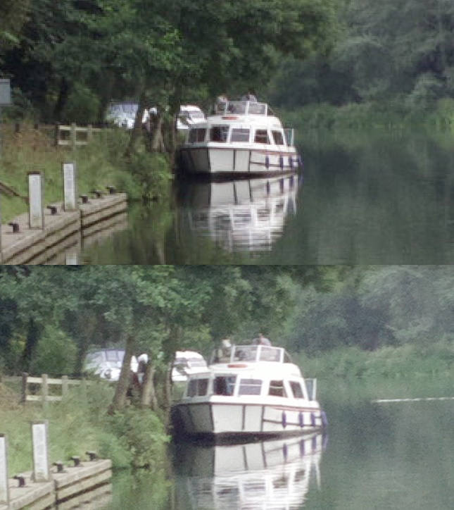 Low light boat zoom comparison