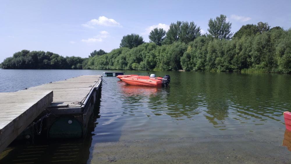 Sunny boat scene