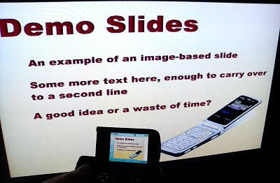 Slides on the go at High-def resolution