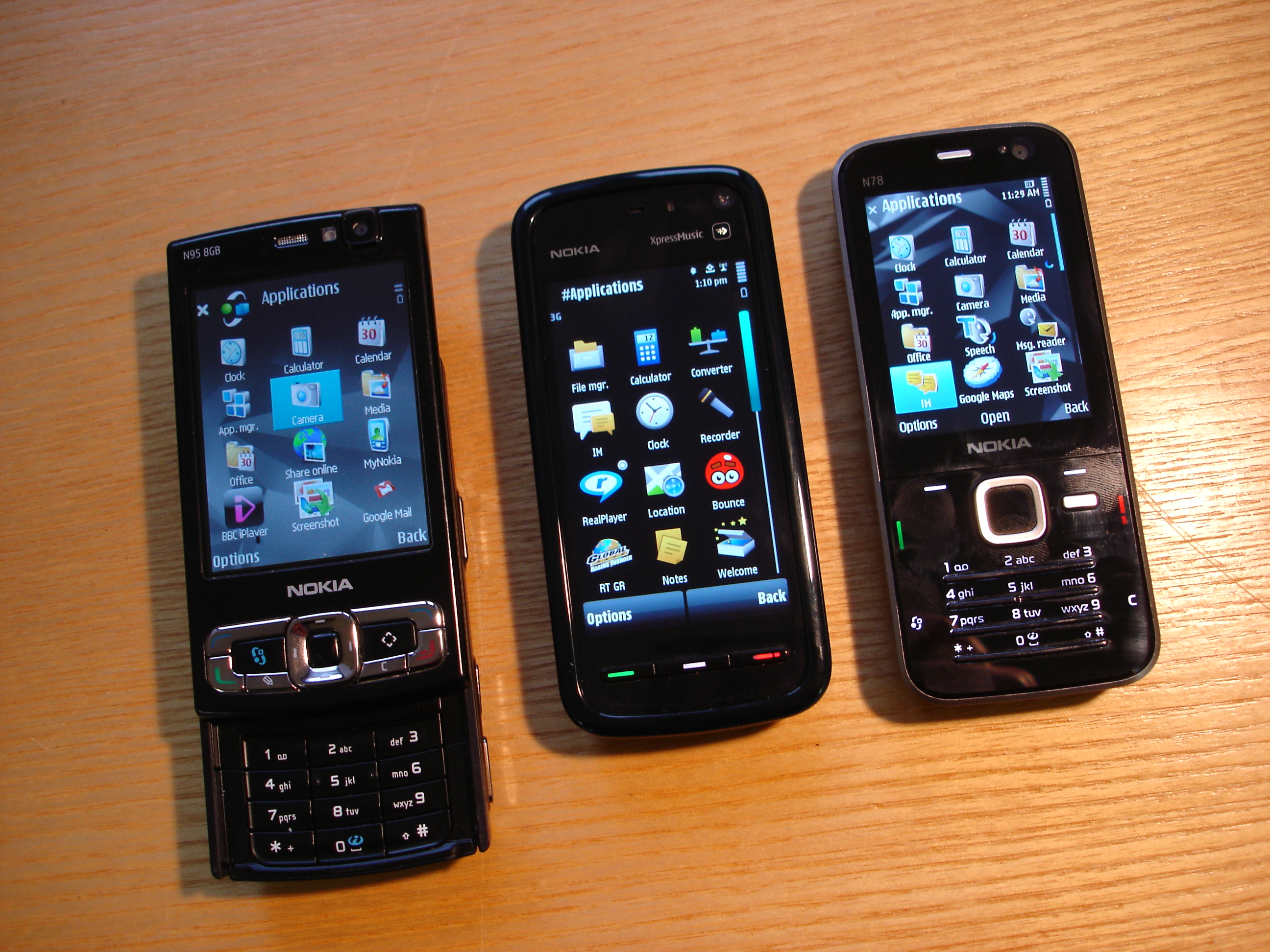You are here home mobiles devices symbian anna update 25 7 - Comparing N95 8gb 5800 And N78
