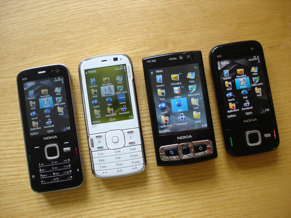 N85 with its Nseries sisters