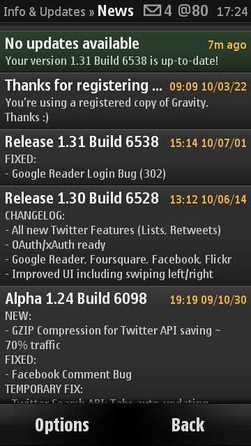 Gravity auto-updating