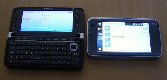 Nokia E90 and N810 music players