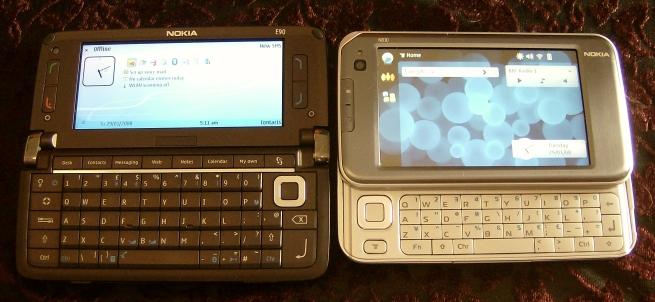 Nokia E90 and Nokia N810