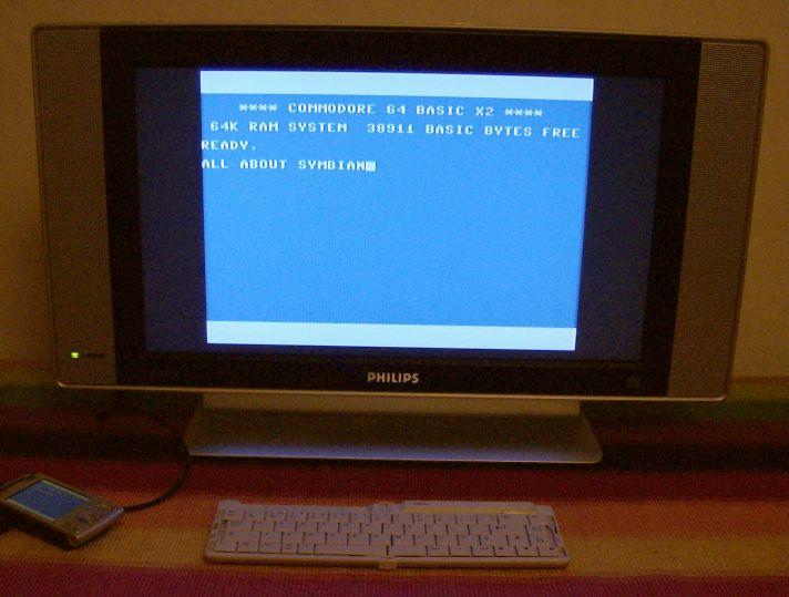 C64 emulator running on Nokia N95