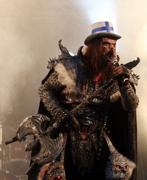 The band Lordi winning Eurovision