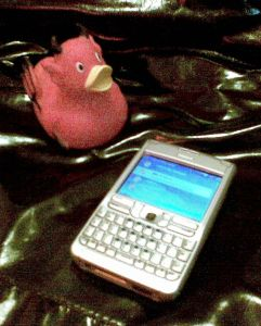 Nokia E61 and a rubber duck