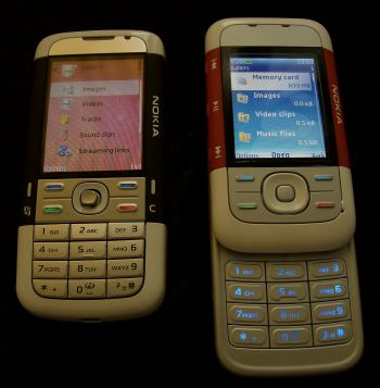 Nokia 5700 and 5300 multimedia galleries