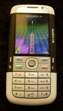Nokia 5700 running Snakes