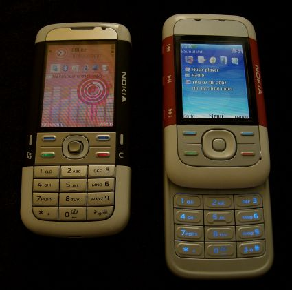 Nokia 5700 and 5300 standby screens