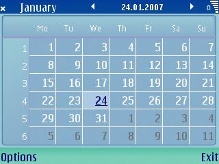 S60 Calendar app screenshot on E61