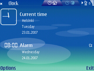 S60 3rd Edition Clock Application screenshot