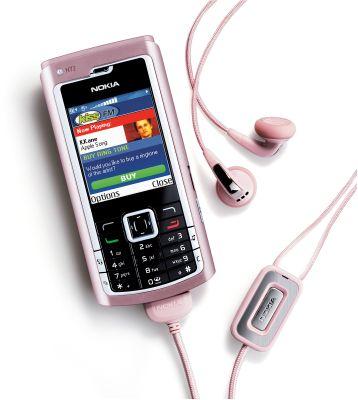 Nokia N72 phone running Visual Radio