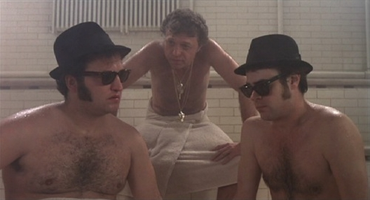 Blues Brothers in a sauna