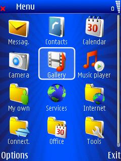 Blue Xmas menu screen