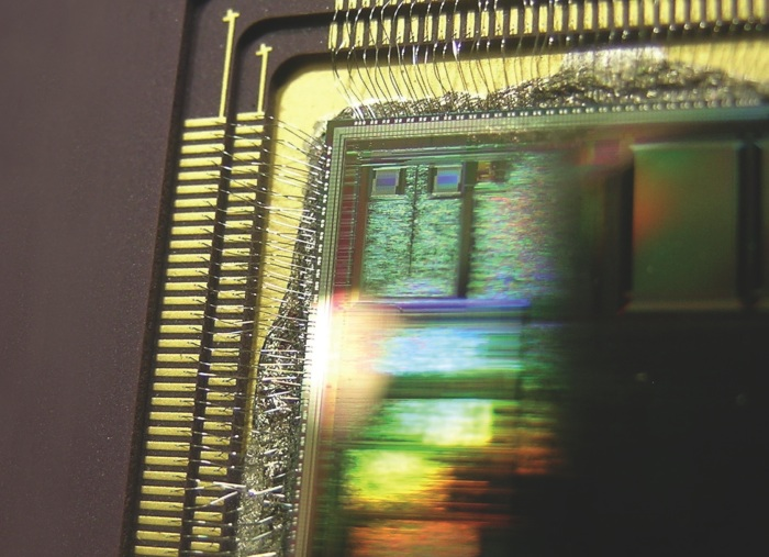 ARM chip, close-up
