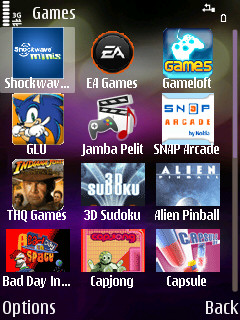 Download's games section