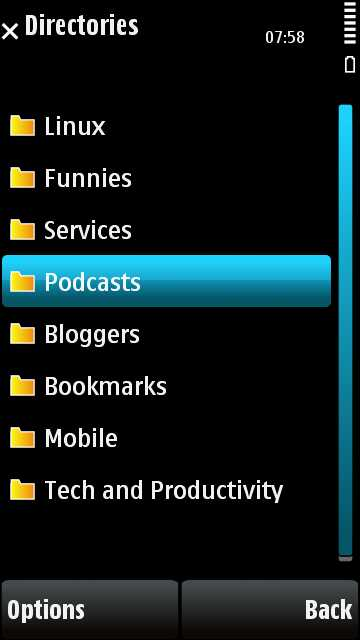 Imported RSS feed categories
