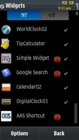 i8910 widgets
