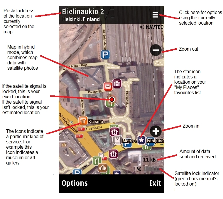 Nokia Maps guide