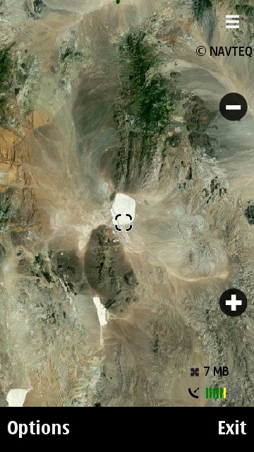Area 51 on Nokia Maps