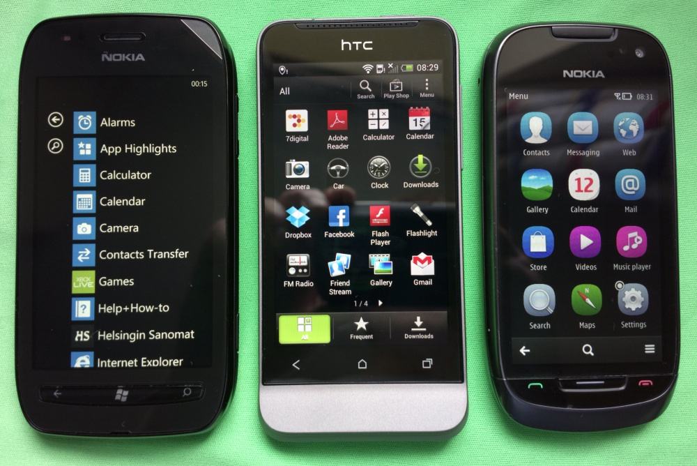 4269e990e10 Head to Head: Nokia Lumia 710 vs HTC One V vs Nokia 701